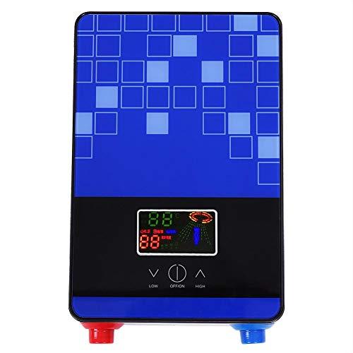 Sorand Chauffe-Eau instantané, électrique instantané système de Production d'eau Chaude LCD Thermostat réglable, sans réservoir, Chauffe-Eau électrique, 220V 6500W