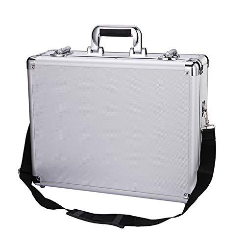 Alluminio lega cassetta degli attrezzi professionale paratia grande Beauty cosmetica valigia borsa...
