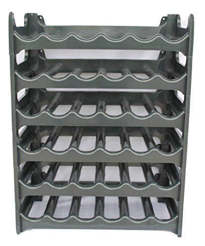 ARTECSIS Cantinetta Portabottiglie in Plastica Modulare 36 Bottiglie Antracite