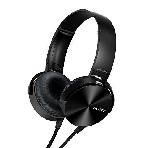 (CERTIFIED REFURBISHED) Sony MDR-XB450 On-Ear Extra Bass Headphones (Black)