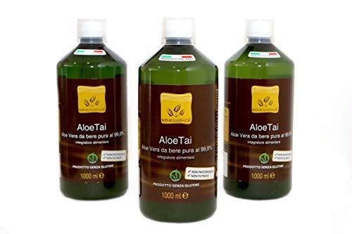 Succo e polpa di Aloe Vera da bere al 99,8% - OFFERTA 3 bottiglie da 1 L - prodotto italiano