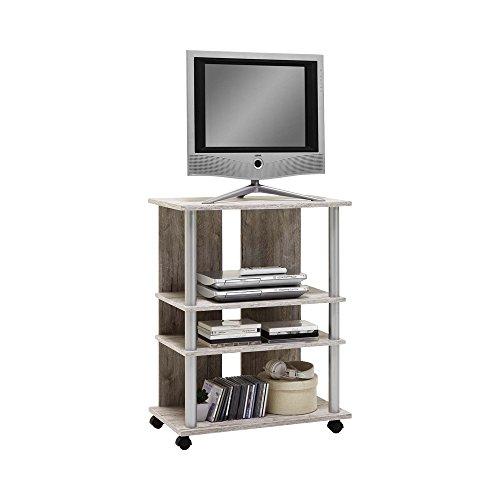 FMD Variant 7 Diez A1 Mobile TV, 65 x 40 x 85 H Cm, Rover, Legno, Sand Oak, 85 x 65 x 40 cm