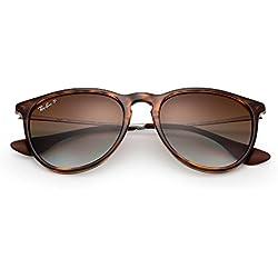 Ray Ban Unisex Sonnenbrille RB4171, Gr. Large (Herstellergröße: 54), Mehrfarbig (Gestell: Havana/Gunmetal, Gläser: Polarized Braun Verlauf 710/T5)