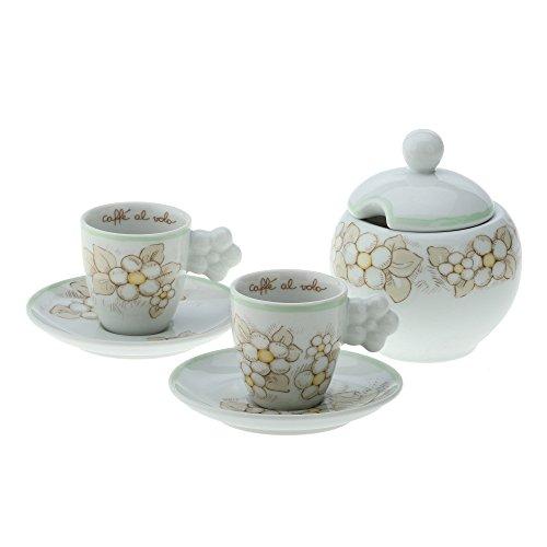 THUN ® - Set 2 tazzine caffè con zuccheriera Eleganza