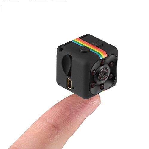 Pawaca Mini Camera HD SQ11 Microcamere Spia per visione notturna 1080P Sport Mini DV Videoregistratore Telecamera per auto a infrarossi Rilevatore di movimento
