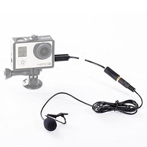 Boya Mini microfono esterno con clip e USB da 3,5mm per GoPro Hero 3,3+ e altre fotocamere