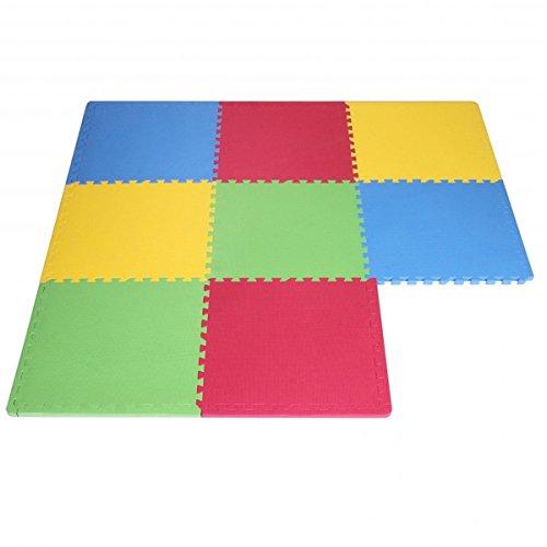 STI Tappeto Puzzle Eva colori assortiti tappetino gioco palestra casa set 60x60 8pcs TOP 2.88 mq...
