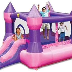 Happy Hop- Castle Bouncer with Slide, (9017P)