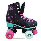Kingdom GB Venus v2 Quad Rollschuhe 4 Rollen Skates (Schwarz, 37 EU)