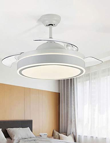 Liuyulong - Ventilatore a soffitto con Ventola silenziosa, Invisibile, Stile Cinese 36 inch Wall...