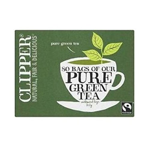 Clipper organic fairtrade green tea bundle (fairtrade, soil association) (green tea) (2 packs of 80 bags) (160 bags) (brews in 1-3 minutes)