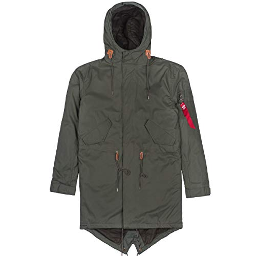 Alpha Industries Hooded Fishtail Parka Dark Olive