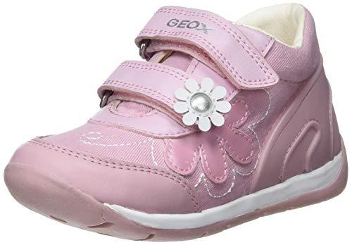 Geox B Each Girl G, Scarpe da Ginnastica Basse Bimba, Rosa (Pink/White C0550), 22 EU