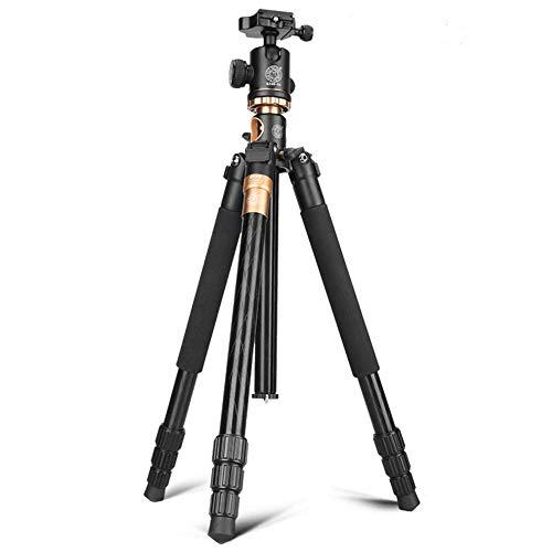 Camera Tripod Telecamera portatile treppiede in lega di alluminio Treppiede testa a sfera e pezzi di 1/4' Piastra Quick Release for for la corsa for DSLR Canon Nikon Sony fotocamera nero (Q999H) Camer