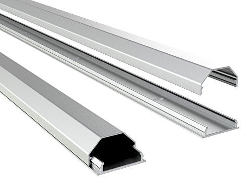 RICOO Canalina TV Z0100per ETAGERES Parete in Alluminio per Supporto a Parete TV LED TV LCD Plasma...