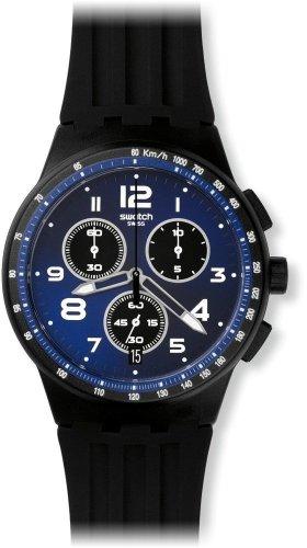 Swatch Orologio Unisex Cronografo al Quarzo con Cinturino in Silicone - SUSB402
