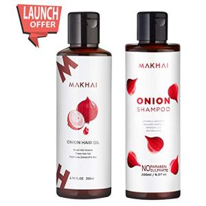 Makhai Onion Hair Oil and Onion Shampoo Combo with Red Onion Extract for Dandruff and Hair Growth 4  Makhai Onion Hair Oil and Onion Shampoo Combo with Red Onion Extract for Dandruff and Hair Growth 41IgjycgLuL