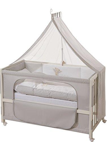 roba Beistellbett, Roombed, Babybett 60x120 cm \'Heartbreaker\' ,Anstellbett  zum Elternbett mit kompletter Ausstattung