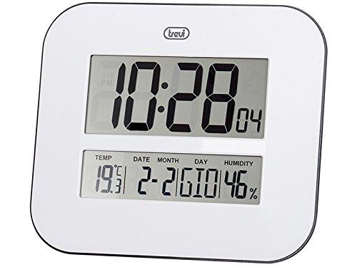 Trevi OM 3520 D Orologio Digitale con Grande Display LCD da Muro, Termometro, Calendario...