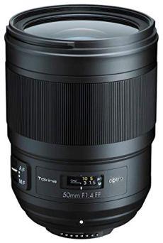 Tokina Opera - Objetivo de 50 mm (f1.4, Full Frame, Montura Nikon) Color Negro