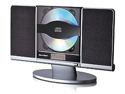 Kaufen Karcher MC 6512 Kompaktanlage (mit CD Player, vertikale Stereoanlage, UKW Radio und Wecker USB Anschluss) schwarz/silber