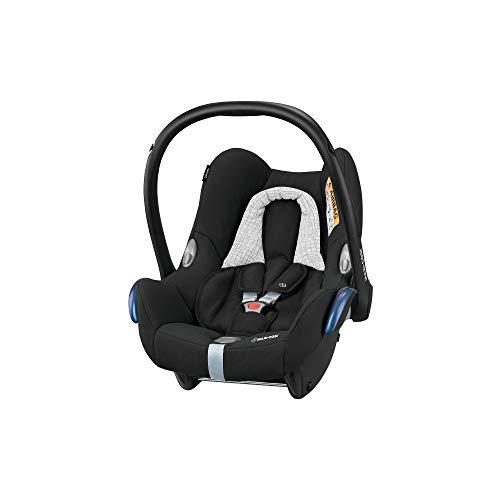 Maxi-Cosi CabrioFix Babyschale, Gruppe 0+ Kindersitz (0-13 kg), nutzbar ab der Geburt bis ca. 12 Monate, Kollektion 2019, black grid
