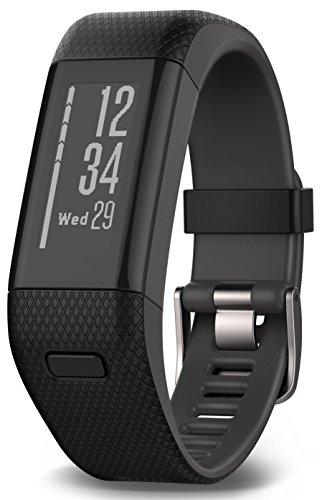 Garmin Vívosmart HR+ - Pulsera de actividad con GPS, color Negro, Extra Large