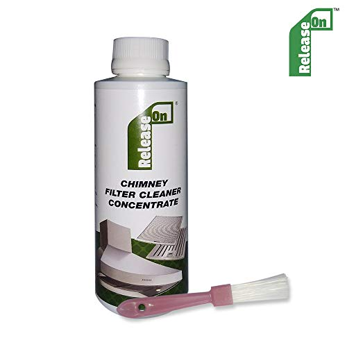 Plastron Release On Kitchen Chimney Filter Cleaner Concentrate Liquid with Brush Cleaning Kit - 250 ml (Pack of 1)