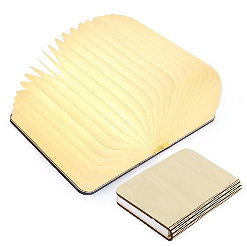 lampade libro USB ricaricabile pieghevole in legno magnetico LED Light del libro di lamp - 2500mAh...