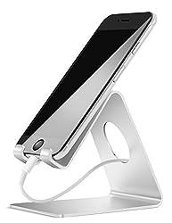 Kaufen Handy Ständer, Lamicall Handy Halterung : Handyhalterung, Halter, Phone Ständer für iPhone Xs Max, Xs, XR, X, 8, 7, 6s 6 / Plus, SE, 5, Samsung S7 S8, Huawei, Tisch Zubehör, Schreibtisch, andere Smartphone - Silber