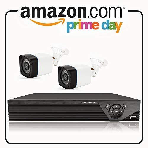 Anni CCTV Kit Videosorveglianza di sistema 4CH 1080P 5-in-1 DVR Kit, con 2x 720p in/outdoor Bullet camera, 25m visione notturna, l supporto AHD/TVI/CVI/analogico/telecamera IP