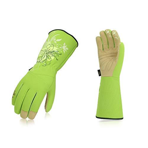 Vgo Glove Guanti da giardino e guanti da lavoro donna, guanti da giardinaggio extra lunghi, palmo in...