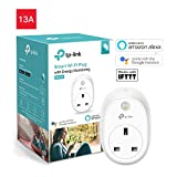 Kasa Smart WiFi Plug with Energy Monitoring by TP-Link, Works with Amazon Alexa (Echo and Echo Dot), Google Home and IFTTT, No Hub Required, Control your Devices from Anywhere