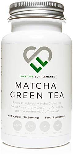 LLS Tè Verde Matcha Giapponese | Antiossidante Pura e Potente | 60 Capsule | Prodotto in Gran Bretagna con certificazione GMP sinonimo di sicurezza e qualità.