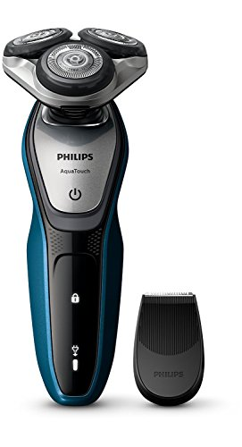 Philips AquaTouch S5420/06 - Afeitadora eléctrica, sin cable, uso en húmedo y seco, 45 min de uso/1 h carga, con tapa protectora del cabezal, color negro