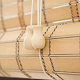 Bambusrollo Premium-Rollläden Für Den Innen- Und Außenbereich, Rollläden In Khaki, Patio/Pavillon/Pergola/Carport-Sonnenschutz, 85cm / 105cm / 125cm / 145cm Breit (Size : 85×100cm)