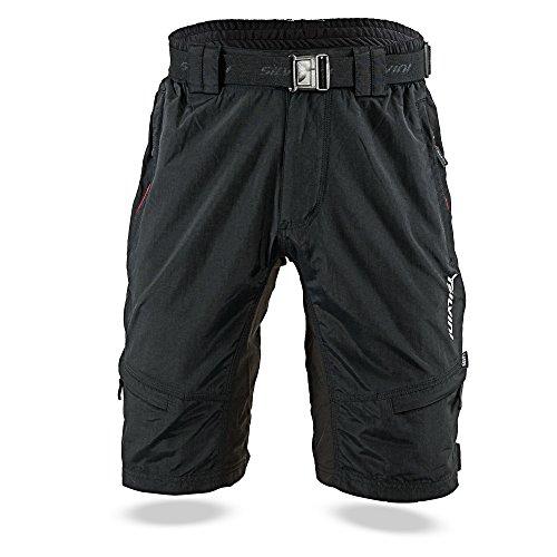 SILVINI Rango - Pantalones de Ciclismo para Hombre, Hombre, Color Negro - Negro y Rojo, tamaño 4XL