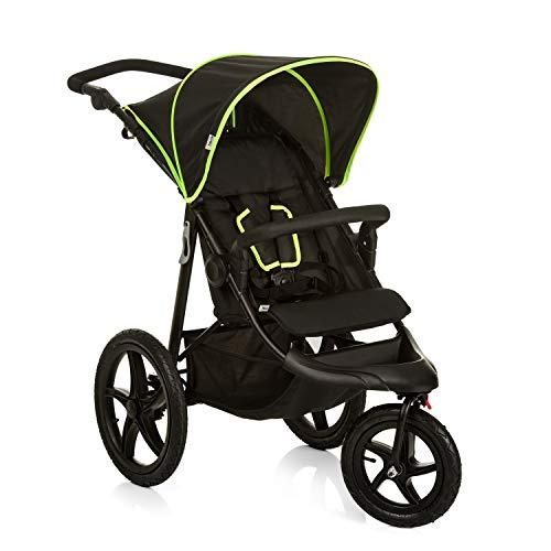 Hauck Runner Passeggino a 3 Ruote, Pieghevole, Compatto, Ruote Gonfiabili, da 0 Mesi fino a 25 kg, Unisex Bambini, Multicolore (Black Neon Yellow)