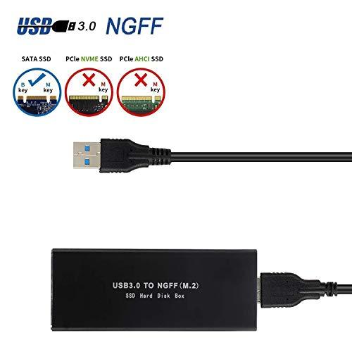 EasyULT Custodia Esterna per M.2 SSD,Adattatore m2 a USB 3.0 Super velocità Esterno NGFF m2 USB...