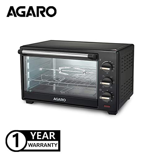 AGARO Majestic Series 25-Litre Oven Toaster Griller with Rotisserie (Black)