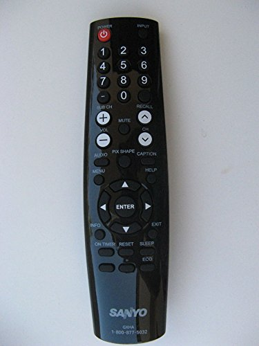 Sanyo LCD LED TV Remote Control GXHA Supplied with Models FVD5833 DP50843 DP58D33