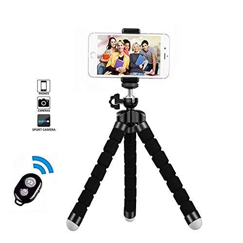 Treppiedi cellulare, cavalletto per iphone flessibile, Treppiedi Fotocamera Bluetooth Universale per...