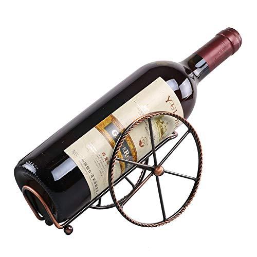LIHONGXIA Portabottiglie in Metallo Portabottiglie Ed Espositore per Bottiglie di Vino Supporto per...