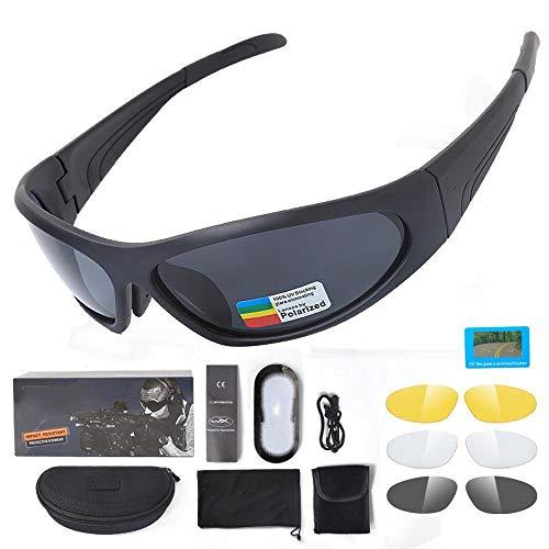 Ludage Buena Gafas de Deporte Escalada táctica Gafas polarizadas Gafas de Prueba de Impacto náuticas conducción al Aire Libre