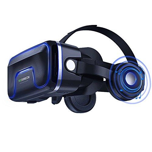 Occhiali Virtuali 3D, Occhiali vr Compatibile con tutti gli Smartphone come Samsung,Android, Huawei...