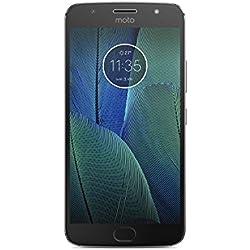 """Motorola Moto G5S Plus - Smartphone Libre de 5.2"""" Full HD, 3.000 mAh de batería, cámara de 13 MP, 3 GB de RAM + 32 GB de Almacenamiento, procesador Snapdragon de 2.0 GHz, Color Gris"""