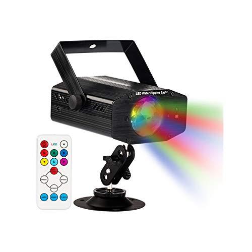GUSODOR Luci da Palco Luci Discoteca con 7 colori Luci Proiettore Effetto Mini LED Illuminazione...