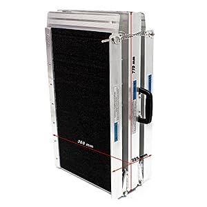 Rampa doble plegable portátil de aluminio