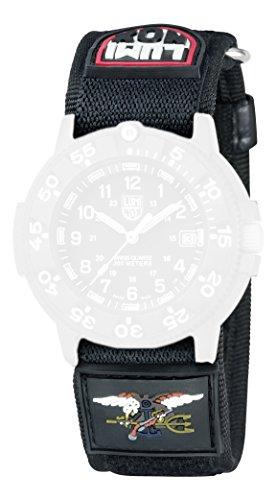 Luminox 3901/ 3903/ 3905/ 3000/ 3050/ 3080 - Braccialetto in nylon, 27 mm, colore: nero
