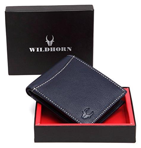 WildHorn Blue Men's Wallet (WH1254)